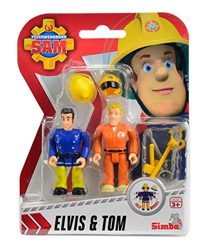 Feuerwehrmann SAM Figuren 2er Set Sam Penny Elvis Tom Spiel Figur Feuerwehr Held: Figuren: Elvis und Tom