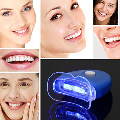 Voilp Zahnaufhellungs Set Bleaching Gel – Schiene – Box | Schnelles Bleaching für weisse Zähne | Sofort Whitening Effekt durch Weißpigmente und Glimmer