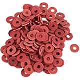 SODIAL(R) Sodialr 200 Pcs 3X8X07Mm Insulated Fiber Insulating Washers Spacers Red