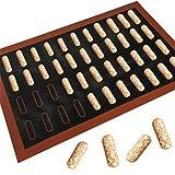 Silikon-Backmatte 18/44 Eclair Pizza Gebäck Antihaft Liner Macaron Keks Torte Brot Backblech Backblech Zubehör Süßwaren Werkzeuge Küche Gadgets Kochen Werkzeuge 44 Eclair
