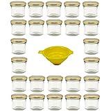 Viva Haushaltswaren G1130125/24T/X Lot de 24 petits pots de...