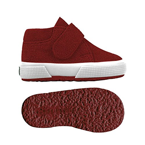 Superga S001NW0 2174-BSUJ, Chaussures montantes mixte enfant Red Dk Scarlet
