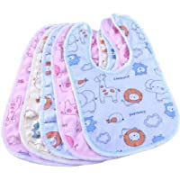 First Trend Waterproof and Quick Dry Baby Bibs Pack of 5