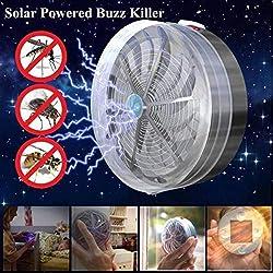 Dailyinshop Solarbetriebene Buzz UV Lampe Licht Fliegen Insekt Bug Moskito töten Zapper Killer