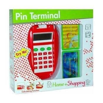 Lecteur de carte bancaire avec fonction calculatrice - jeu d'imitation marchande