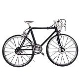 B Blesiya Modellini Miniatura Biciclette Da Corsa Diecast Decorative Tavola Lega Nero
