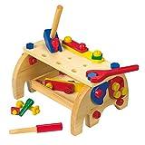 """Werkbank """"Elefant"""" aus Holz, in Form eines Elefanten, zur Schulung der motorischen Fähigkeiten, begeistert kleine Handwerker ab 3 Jahren"""