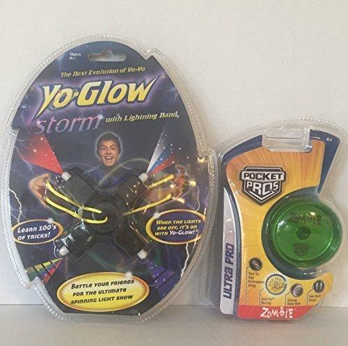 Pocket Pro, YoGlo Yo Yo Game Play Toy Bundle: Razor Pocket Pros Zombie & Yo Glow Storm With Lightning Band (2 Items)