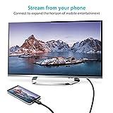 Syncwire USB C auf HDMI Kabel 2M – 4K@60Hz USB 3.1 Type C auf HDMI Kabel (Thunderbolt 3 kompatibel) für 2017/2016 MacBook Pro, 2017 iMac, Samsung Galaxy S9/S8+, Huawei P20, Mate 10 – Schwarz