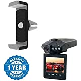 Captcha® Car Air Vent Universal Mount Holder Stand With Car DVR Dash Cam Driving Recorder Mini Portable 1080p HD Cam Compatible With Xiaomi, Lenovo, Apple, Samsung, Sony, Oppo, Gionee, Vivo Smartphones (One Year Warranty)