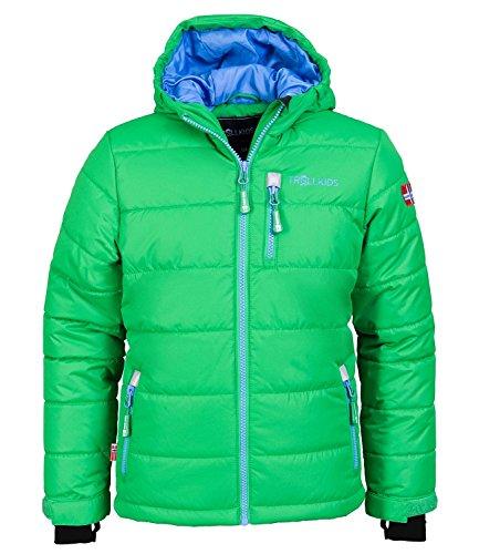 Trollkids Skijacke Hemsedal Snow grün/blau 10 Jahre (140 cm) (Winterjacken 10 Größe Jungen)