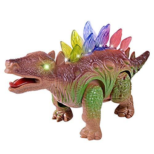 Fcostume Licht Dinosaurier Elektronischer Gehender Roboter Roaring Interactive Dino Spielzeug Lights & Sounds Echte Bewegung (Braun) - Walking-spielzeug-roboter