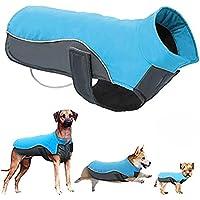 POPETPOP Chaqueta de Invierno para Perros Chaqueta de Lana Impermeable para Mascotas Parka Ropa de Perro de Abrigo para Perros Grandes Tamaño 5XL (Azul)