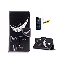 Case For Nokia 6/ TA-1000 [With Tempered Glass Screen Protector],Fatcatparadise(TM) Anti Scratch Flip Soft Silicone Back Cover Case ,Colorful Cute Pattern Design Flip Magnetic Premium PU Leather Credit Card Folio Holder Wallet Case For Nokia 6/TA-1000 (Sn
