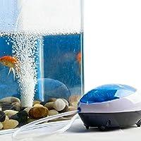 Malloom® Nuevo Ultra Silencioso High Out Eficiencia energética oxígeno Bomba de aire Pecera Acuario ( tubo no incluido) (1.5 W)
