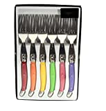Laguiole I7210P6-NT Box mit 6 Tafelgabeln in 6 Pastellfarben