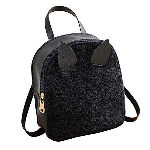 hsy Schulter-Kaninchen-Haar-Horn-Beutel-Handy-Shell-Art Geldbeutel-Kuriertasche Travando-Klipp-Mappen-Kleiner Kartenhalter-Kind (Color : Black) - Stahl-schuh-horn