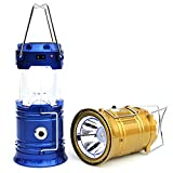 Renyke LED Solar Emergency Light Lantern with High Light Torch and USB Mobile Charger (Assorted Colour)