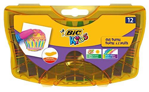 BIC KiDS 933957ölmalkreide Oil Pastels, 12unidades, 12colores)