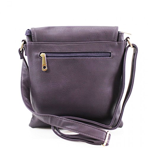 Craze London, Borsa a spalla donna Dark Grey