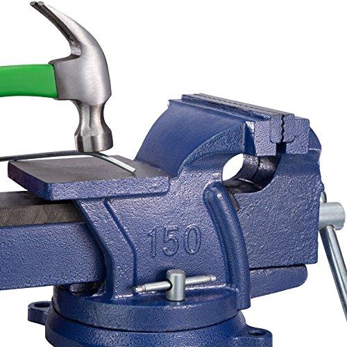 TecTake Schraubstock Amboss 360° drehbar mit Drehteller für Werkbank – diverse Größen – (Spannweite 165 mm | Nr. 401125) - 4