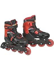 Hot Wheels joven patines en línea HW Big Logo Negro Schwarz / Rot / Gelb Talla:31-34