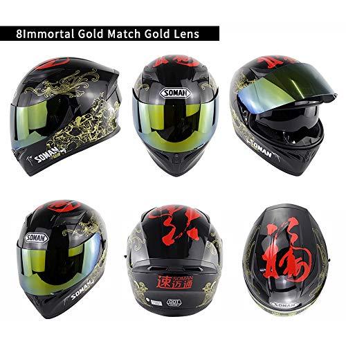 AMZ BCS Offroad Motorrad Integralhelme Motocross Integralhelm Motorrad Flip Up Modular Dual Visier Helm, ECE & DOT Zertifizierung,XL (Modulare Helm Dual-visier)