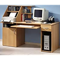 Preisvergleich für Schreibtisch bv-vertrieb PC-Tisch Buche Bürotisch Druckerablage Buche - (1481)
