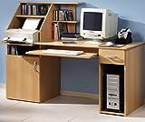 Schreibtisch bv-vertrieb PC-Tisch Buche Bürotisch Druckerablage Buche - (1481)