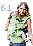 Sei posizioni, a 360 ° bambino ergonomico & marsupio famiglia di LILLEbaby - Ecologico complete (Verde prato)