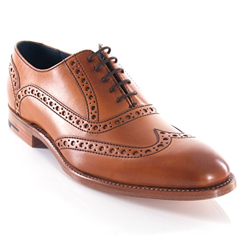 Barker scarpe vestito brogue wingtip Grant marrone da Barker, Marrone (Brown), 42.5