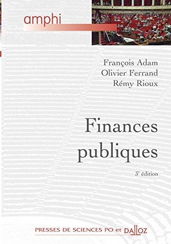Finances publiques - 3e d.: Amphi - Presses de Sces Po et Dalloz