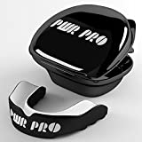 PWRPRO - Protector bucal, negro / blanco, Adult 11+