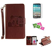 LG G4 Case, JGNTJLS [New Style for SS/AW] [with Free Tempered Glass Screen Protector and Cleaning Paper] Cute, Stylish, Embossing-Pattern(Pure-Colorful, Artificial-Wrinkle Design), PU Leather-Shell(Silky Touch Fully), Internal-TPU(Soft and Smooth), [High