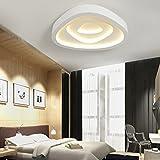 XQK Led de ahorro de energía geométrica simple y moderno dormitorio con perfil creativo creativos de ahorro de energía de luz de techo, teléfono móvil APP medio control 62 * 49CM