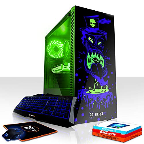 Fierce Gobbler RGB Gaming PC Bundeln - Schnell 3.8GHz Quad-Core AMD Athlon X4 950, 240GB SSD, 1TB HDD, 16GB 2400MHz, NVIDIA GeForce GTX 1060 3GB, Windows 10, Tastatur Maus (VK/QWERTY) 820666