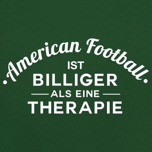 American Football ist billiger als eine Therapie - Herren T-Shirt - 13 Farben Flaschengrün