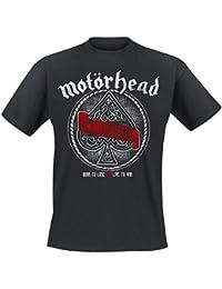Motörhead Ace Of Spades Red Banner Camiseta Negro