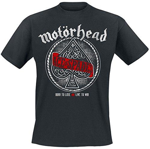 Motörhead Ace Of Spades Red Banner T-Shirt nero L