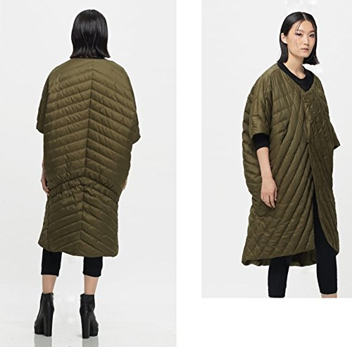 KATUO Damen Umhang Mantel Large Grün
