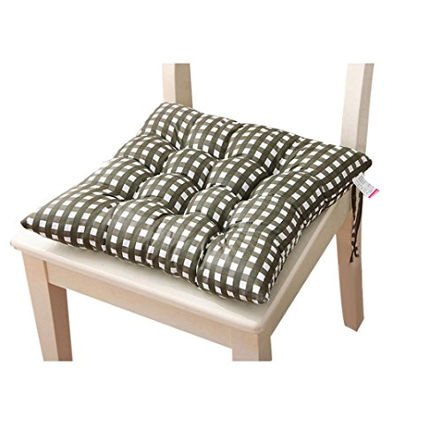 Stuhlkissen Sitzkissen, BBTXS Stuhlkissen mit Schleifenband Dicke Weiche Sitzkissen Polster für Stühle & Gartenmöbel in Anthrazit (Army Green)