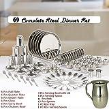 #4: Best Steel Dinner Set, Heavy Stainless Steel Dinner Set 69 Pieces - Steel , Premium Dinner set,