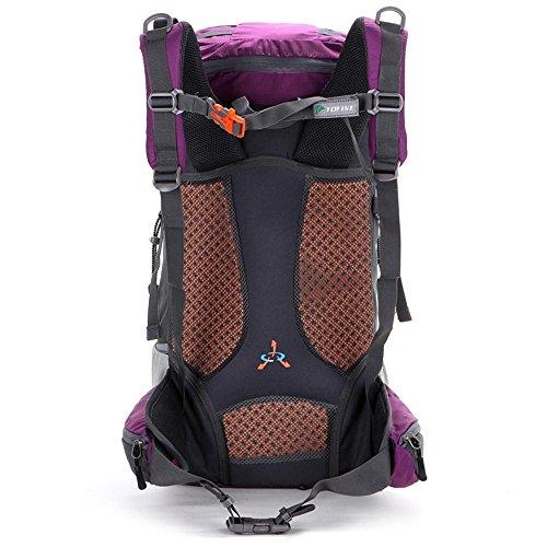 ALUK-arrampicata all'aperto zaino trekking borsa a tracolla borsa da viaggio zaino leggero impermeabile neutro Acqua blu