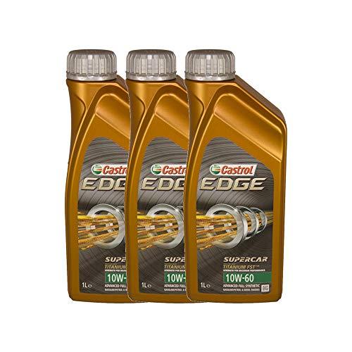 Castrol Edge Professional 10W 60Supercar Fst Olio lubrificante Motore Auto confenzione da 3Litri (Formula migliorata con Titanium Fst TM)
