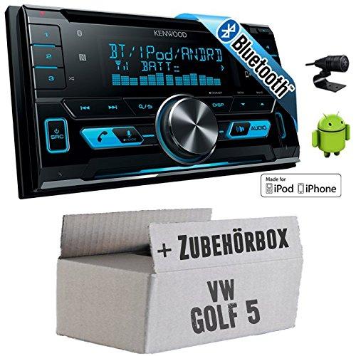 VW Golf 5 V - Kenwood DPX-X5000BT - 2DIN Bluetooth USB Autoradio - Einbauset