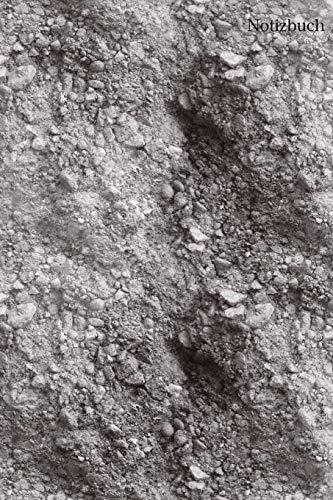 Notizbuch: Notizbuch Sand, Mondlandschaft, Tagebuch, Bulletjournal mit Soft Cover mit 100 linierten cremefarbene Seiten, DinA5, 6x9 Achtsamkeit, Urlaub, Erinnerungen -