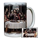 Das letzte Abendmahl Gott Jesus Christi Tafel Glaube Religion 12 Apostel Gemälde - Tasse Becher Kaffee #8117t