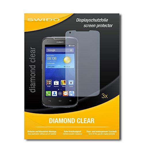 3 x SWIDO® Schutzfolie Huawei Ascend Y540 Bildschirmschutz Folie
