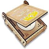 CANDLE in the BOX Geschenk-Box für Patentante mit Botschaft & Kerze | Personalisiert mit Foto und mit Namen | Beste Patentante der Welt
