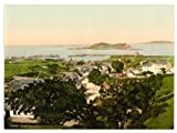 Viktorianische Ansicht von Howth und Irland 's Eye, County Dublin, Irland, groß, A3Größe 41von 28cm auf Leinwand; texturiertes Papier, Fotodruck
